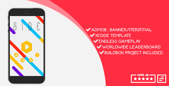 AD-MOB, X CODE,ENDLESS GAME-PLAY, LEADER-BOARDS, BUILD BOX